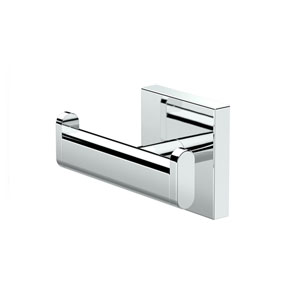 Elevate, Double Robe Hook, Chrome