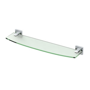 Elevate Chrome Glass Shelf