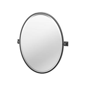 Elevate 27.5-Inch Framed Oval Mirror Matte Black