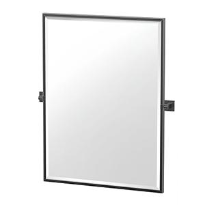 Elevate 32.5-Inch Framed Rectangle Mirror Matte Black