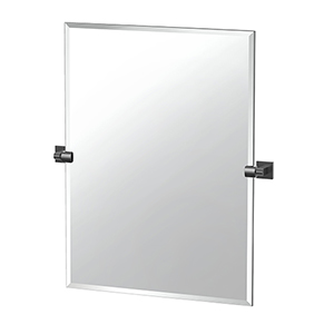 Elevate 31.5-Inch Frameless Rectangle Mirror Matte Black