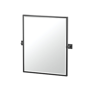 Elevate 25-Inch Framed Rectangle Mirror Matte Black