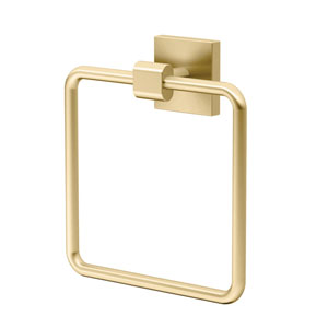Elevate Towel Ring in Brushed Brass