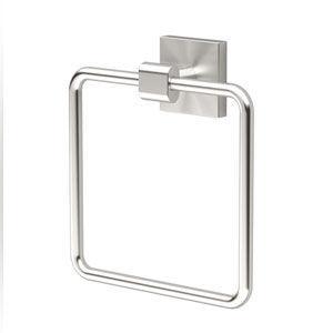 Elevate Satin Nickel Towel Ring