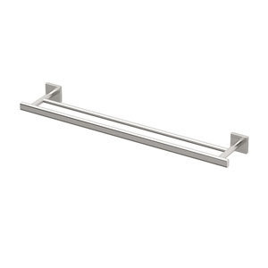 Elevate Satin Nickel Double Towel Bar
