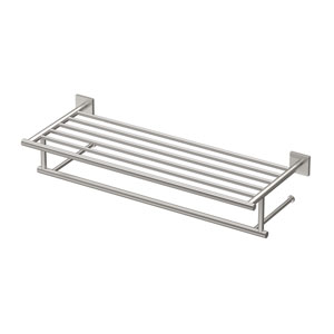Elevate, 26-inch L Hotel Spa Rack, Satin Nickel
