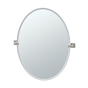 Elevate Satin Nickel Large Oval Mirror