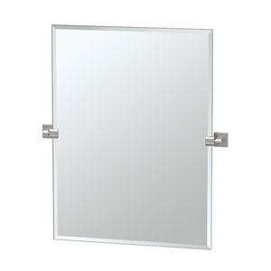 Elevate Satin Nickel Rectangular Mirror