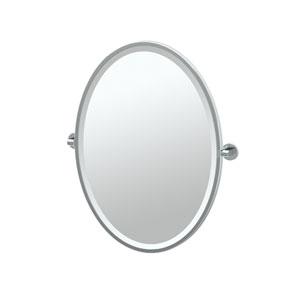 Zone Chrome Framed Oval Mirror