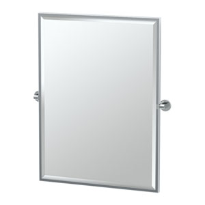 Zone Chrome Framed Large Rectangle Mirror