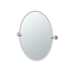 Zone Satin Nickel Oval Mirror