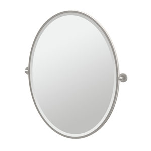Zone Satin Nickel Framed Large Oval Mirror
