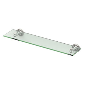 Tavern Polished Nickel Glass Shelf