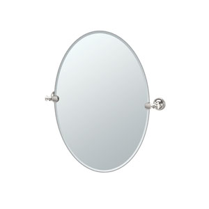 Tavern Polished Nickel Oval Mirror