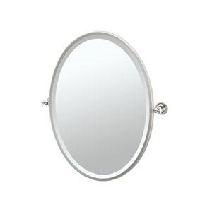 Tavern Polished Nickel Framed Oval Mirror