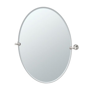 Tavern Polished Nickel Large Oval Mirror