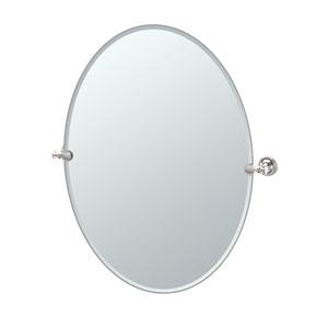 Tavern Polished Nickel Large Oval Mirror