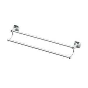Jewel Chrome 24 Inch Double Towel Bar