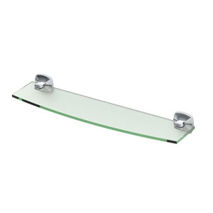 Jewel Chrome Glass Shelf