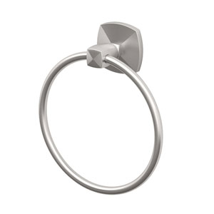 Jewel Satin Nickel Towel Ring