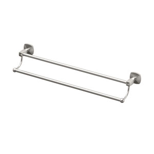 Jewel Satin Nickel 24 Inch Double Towel Bar