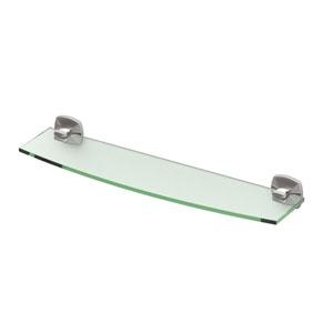 Jewel Satin Nickel Glass Shelf