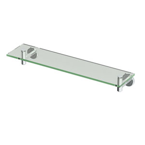 Latitude II Chrome Glass Shelf
