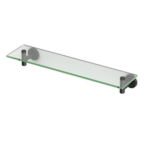 Latitude II Matte Black Glass Shelf