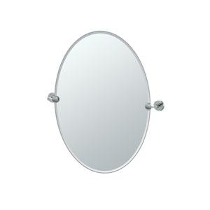 Latitude II Chrome Tilting Oval Mirror