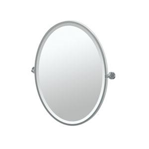 Latitude II Chrome Framed Oval Mirror