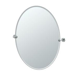 Latitude II Chrome Large Oval Mirror