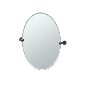 Latitude II Oval Mirror Matte Black