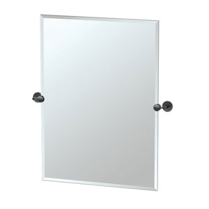 Latitude II Rectangle Mirror Matte Black