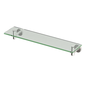 Latitude II Satin Nickel lass Shelf