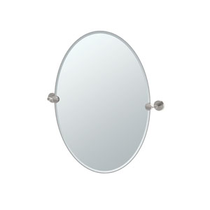 Latitude II Satin Nickel Tilting Oval Mirror