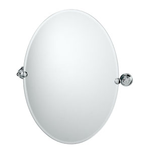 Tiara Chrome Tilting Oval Mirror
