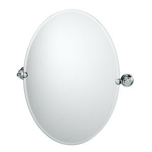 Tiara Chrome Tilting Oval Mirror
