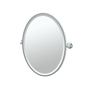 Tiara Chrome Framed Oval Mirror