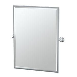 Tiara Chrome Framed Large Rectangle Mirror