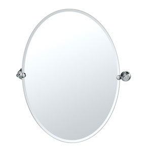 Tiara Chrome Large Tilting Oval Mirror