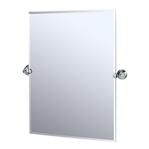 Tiara Chrome Tilting Rectangular Mirror