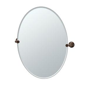 Tiara Bronze Large Tilting Oval Mirror