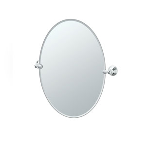 Charlotte Chrome Tilting Oval Mirror