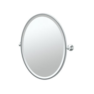 Charlotte Chrome Framed Oval Mirror