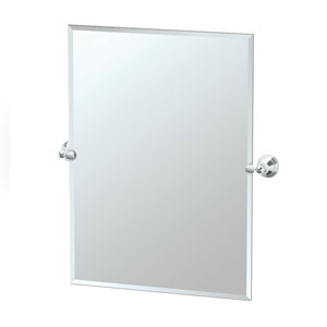 Charlotte Chrome Tilting Rectangular Mirror