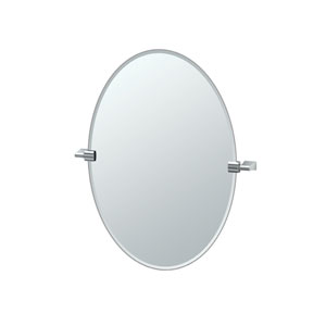 Bleu Chrome Oval Mirror