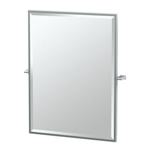 Bleu Chrome Framed Large Rectangle Mirror