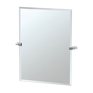 Bleu Chrome Tilting Rectangular Mirror
