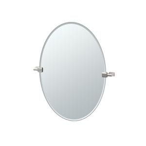 Bleu Satin Nickel Oval Mirror