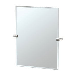 Bleu Satin Nickel Tilting Rectangular Mirror